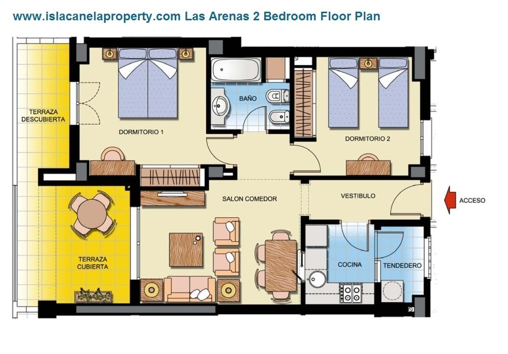 las arenas 2 bed floorplan-min